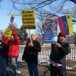 Demonstration in solidarity with Venezuela
