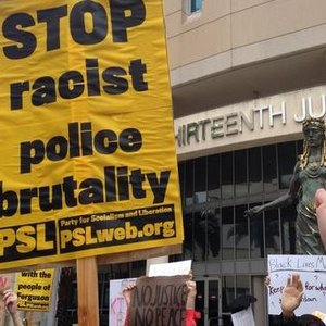 psl-sign-stop-racist-police-brutality