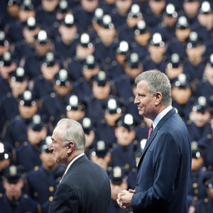 NY Mayor De Blasio Heckled At Police Graduation